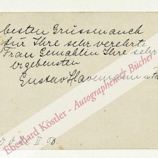 Havemann, Gustav, Violinist, Leiter der Reichsmusikkammer (1882-1960).