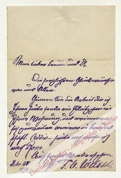 Welsch, Charles Feodor, Maler (1828-1904).