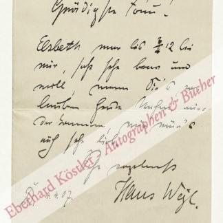 Weyl, Hans, Zeichner und Grafiker (1863-1916).