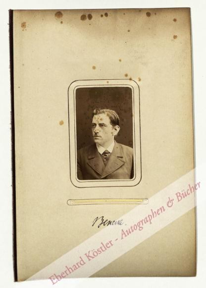 Benecke, Berthold Adolph, Anatom und Fischereiforscher (1843-1886).