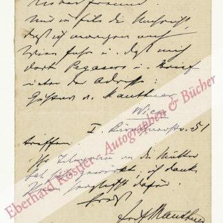 Mauthner, Fritz, Philosoph (1849-1923).