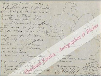 Maillol, Aristide, Maler und Bildhauer (1861-1944).