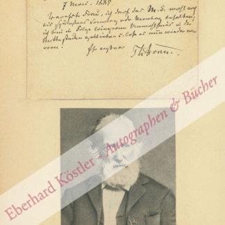 Storm, Theodor, Schriftsteller (1817-1888).
