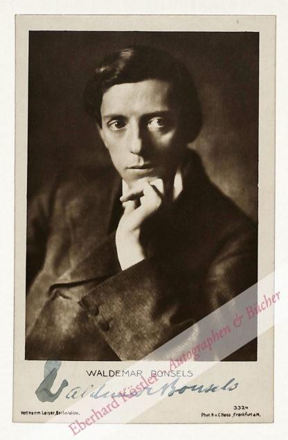 Bonsels, Waldemar, Schriftsteller (1880-1952).