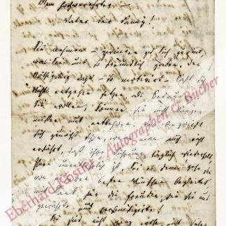 """Sondershausen, Karl, Schriftsteller, """"Der Letzte aus Altweimar"""" (1792-1882)."""