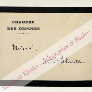Blum, Léon, Jurist und Staatsmann (1872-1950).