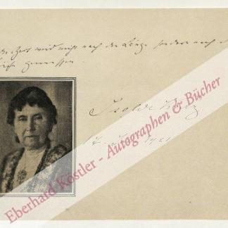 Kurz, Isolde, Schriftstellerin (1853-1944).