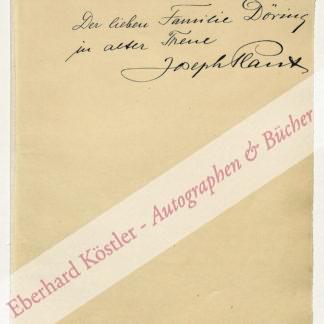 Plaut, Joseph, Schauspieler, Rezitator und lippischer Heimatdichter (1879-1966).