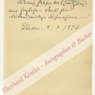 Rantzau, Adeline zu, Schriftstellerin (1867-1927).