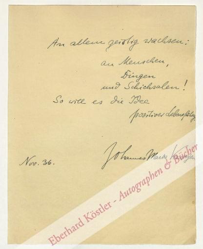 Verweyen, Johannes Maria, Philosoph (1883-1945).