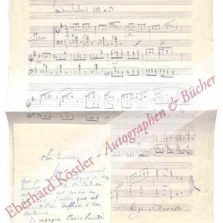 Roger-Ducasse, Jean, Komponist (1873-1954).