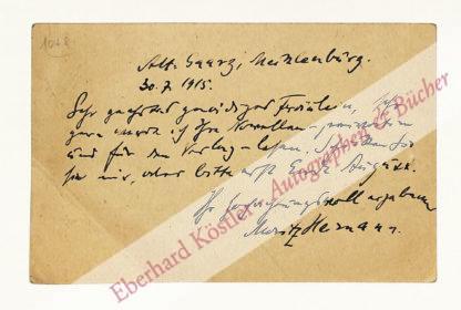 Heimann, Moritz, Schriftsteller und Lektor (1868-1925).