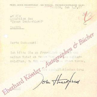 Heartfield, John (eigentl. Helmut Franz Josef Herzfeld), Maler und Graphiker (1891-1968).