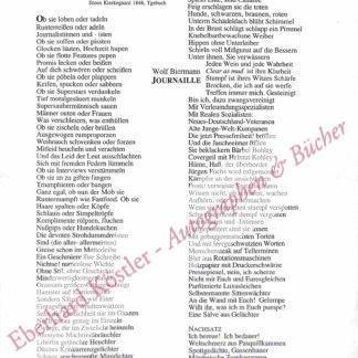 Biermann, Wolf, Schriftsteller und Liedermacher (geb. 1936).
