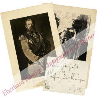 Friedrich III. (als Kronprinz: Friedrich Wilhelm), Deutscher Kaiser, König von Preußen (1831-1888).