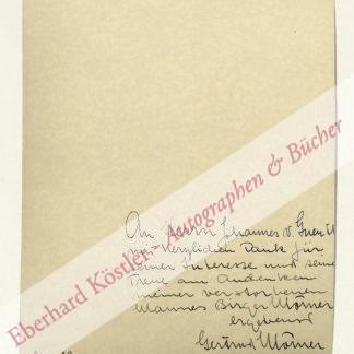 Mörner, Birger, Schriftsteller und Diplomat (1867-1930).