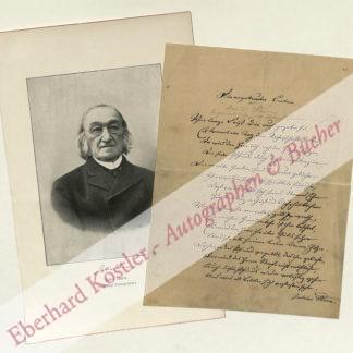 Sturm, Julius, Theologe und Schriftsteller (1816-1896).