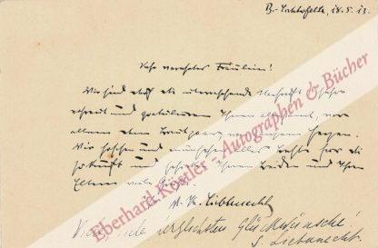 Liebknecht, Karl, Politiker, mit Rosa Luxemburg ermordet (1871-1919).