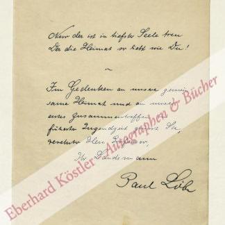 Löbe, Paul, Politiker und Reichstagspräsident (1875-1967).