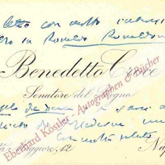 Croce, Benedetto, Philosoph (1866-1952).