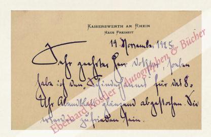 Eulenberg, Herbert, Schriftsteller (1876-1949).