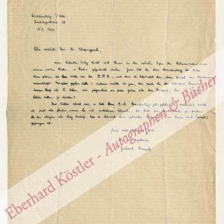Menzel, Gerhard, Schriftsteller und Drehbuchautor (1894-1966).