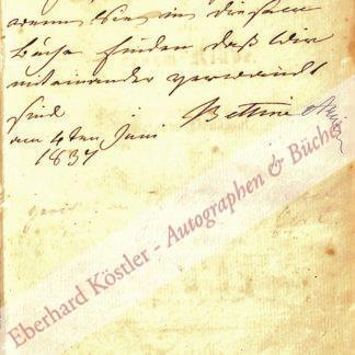 Arnim, Bettine von, geb. Brentano, Schriftstellerin (1785-1859).