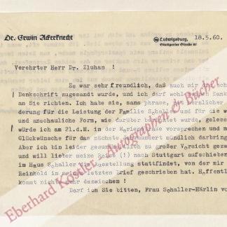 Ackerknecht, Erwin, Literaturwissenschaftler (1880-1960).