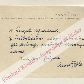 Fehrle, Anna, Bildhauerin (1892-1981).