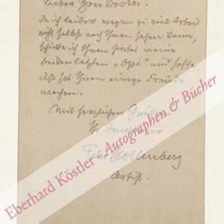 Hollenberg, Felix, Maler und Graphiker (1868-1945).