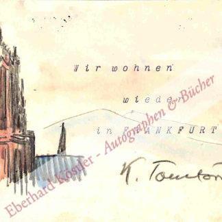 Tomforde, Karl, Maler (1881-1969).