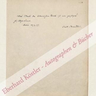 Schmidt, Erich, Literaturwissenschaftler (1853-1913).