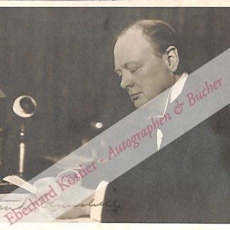 Churchill, Sir Winston Spencer, Staatsmann (1874-1965).