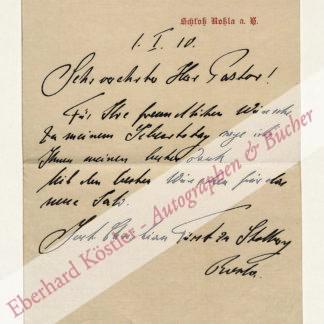 Stolberg-Roßla, Jost Christian Graf (seit 1893 Fürst) zu, Standesherr (1886-1916).