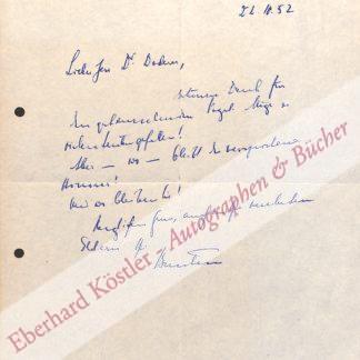 Brentano, Bernard von, Schriftsteller (1901-1964).