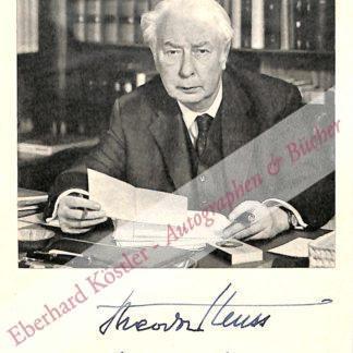 Heuss, Theodor, Publizist und Politiker (1884-1963).