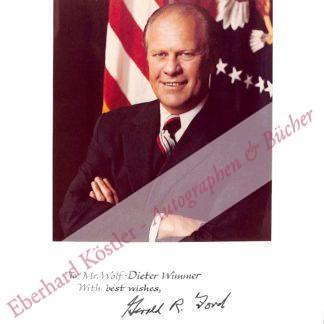 Ford, Gerald Rudolph, 38. Präsident der Vereinigten Staaten (1913-2006).