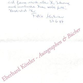 Mitterer, Felix, Schriftsteller (geb. 1948).