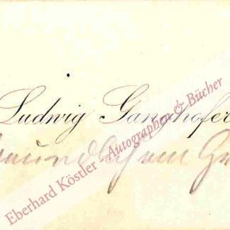 Ganghofer, Ludwig, Schriftsteller (1855-1920).