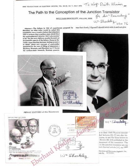 Shockley, William, Physiker und Nobelpreisträger (1910-1989).