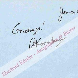 Kornberg, Arthur, Biochemiker (1918-2007).