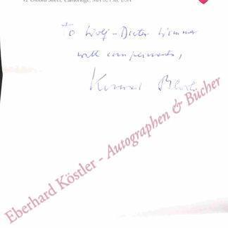 Bloch, Konrad Emil, Biochemiker und Nobelpreisträger (1912-2000).