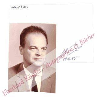 Bassow, Nikolai Gennadijewitsch, Physiker und Nobelpreisträger (1922-2001).
