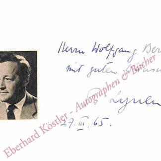 Lynen, Feodor, Chemiker und Nobelpreisträger (1911-1979).