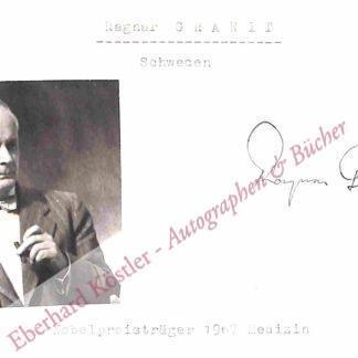 Granit, Ragnar Arthur, Physiologie und Nobelpreisträger (1900-1991).