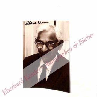 Khorana, Har Gobind, Biochemiker, Molekularbiologe und Nobelpreisträger (1922-2011).
