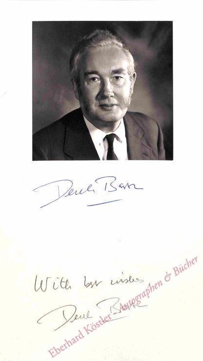 Barton, Derek, Chemiker und Nobelpreisträger (1918-1998).