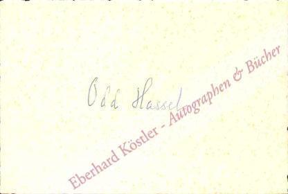 Hassel, Odd, Chemiker und Nobelpreisträger (1897-1981).