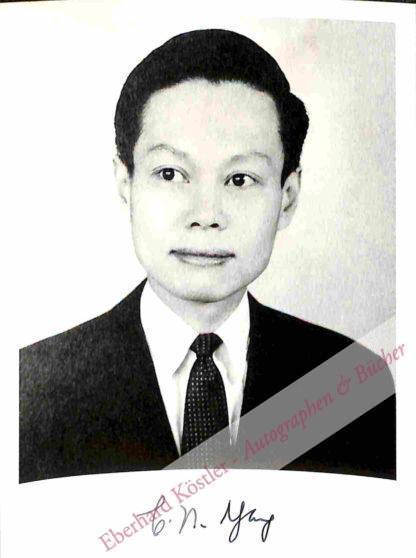 Yang, Chen Ning, (geb. 1922) Physiker und Nobelpreisträger.