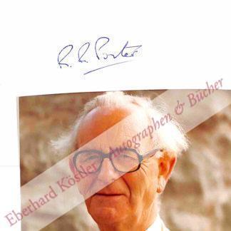 Porter, Rodney Robert, Biochemiker und Nobelpreisträger (1917-1985).